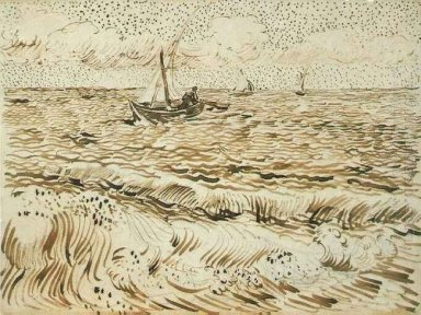 A Fishing Boat At Sea 1888