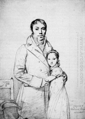 Charles Hayard And His Daughter Marguerite
