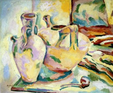 Still Life With Jugs And Pipe