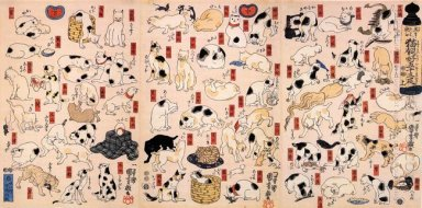 Cats Suggested As The Fifty Three Stations Of The Tokaido