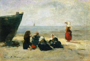 Berck Fisherwomen On The Beach