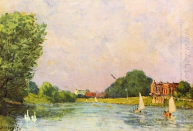 thames at hampton court 1874