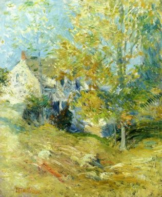 The Artist S House Through The Trees Also Known As Autumn Aftern