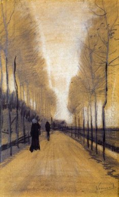 Alley Bordered By Trees 1884
