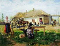 Arrival Of A School Mistress In The Countryside 1897