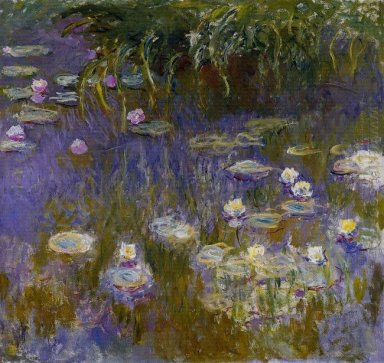 Water Lilies Yellow And Lilac 1917