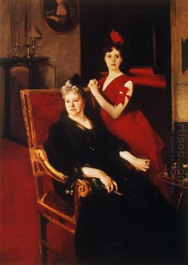 Mrs Edward Burckhardt And Her Daughter Louise 1885