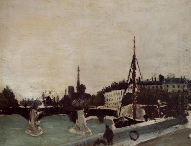 View Of The Ile Saint Louis From The Quai Henri Iv Study 1909