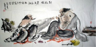 Drinking - Chinese Painting