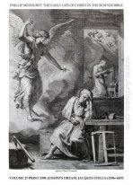 Early life of Christ in the Bowyer Bible print 9 of 21. dream of