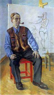 portrait of the artist ka vyalov 1942