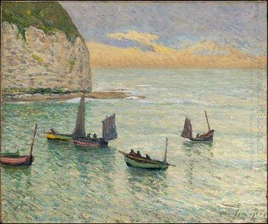 Departure Of Fishing Boats 1900