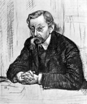 Pencil Drawing Of Belgian Poet émile Verhaeren 1915