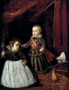 Don Baltasar Carlos With A Dwarf 1632