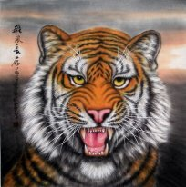 Tiger-Face - Pittura cinese