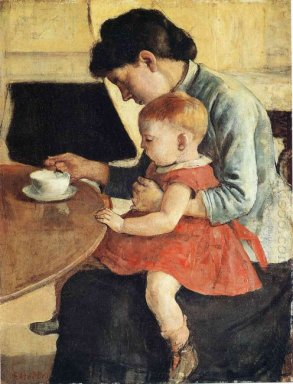 Oil Mother And Child