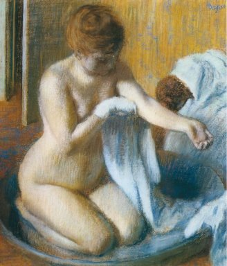 after the bath 1886