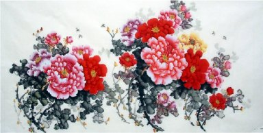 Peony-Four feet - Chinese Painting