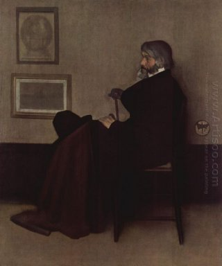 Arrangement In Grey And Black No 2 Portrait Of Thomas Carlyle 18