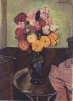Flower Vase On A Round Table 1920