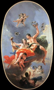 The Triumph Of Zephyr And Flora 1735