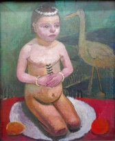 Girl with Stork