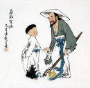 Old man, children - Chinese Painting