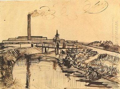 Canal With Bridge And Women Washing 1888