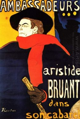 Ambassadeurs Aristide Bruant In His Cabaret 1892
