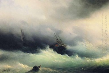Ships In A Storm 1860