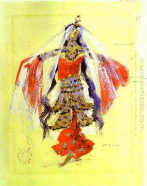Dancer Costume Design For Rubinstein S Opera