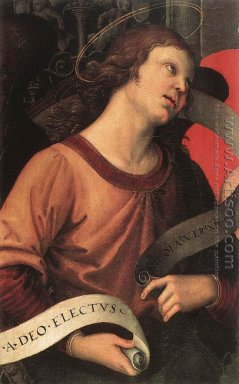 Altarpiece of St. Nicholas of Tolentino (detail of an angel hold