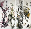 Bird and flower-FourInOne - Chinese Painting