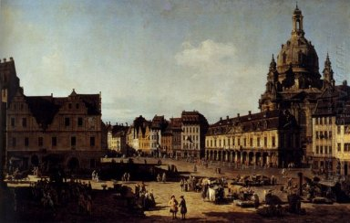 View Of The New Market Place In Dresden From The Moritzstrasse 1
