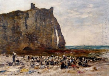 The Laundresses Of Etretat 1890