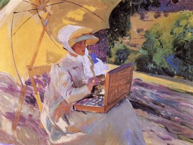 Maria Painting In El Pardo 1907