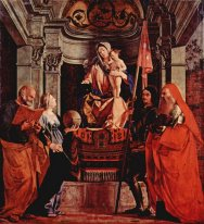 Altar Of Santa Cristina Al Tiverone Main Board Madonna Enthroned