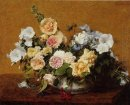 Bouquet Of Roses And Other Flowers 1889