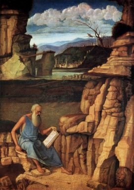 St Jerome Reading In The Countryside 1485