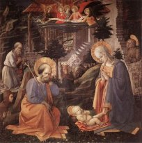 Adoration Of The Child With Saints