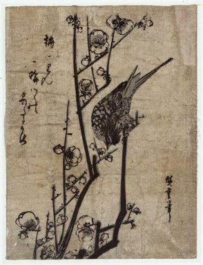 Plum Blossom And Bush Warbler 1838