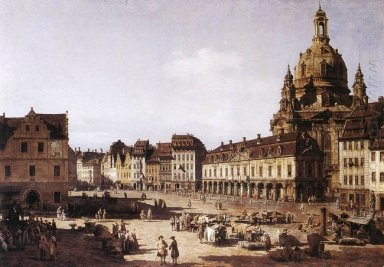 New Market Square In Dresden 1750