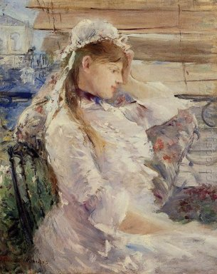 Profile Of A Seated Young Woman 1879