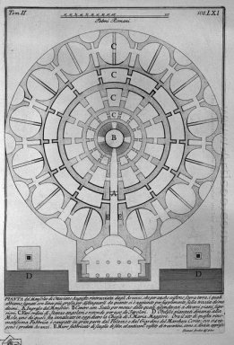 The Roman Antiquities T 2 Plate Lxi Plan Of The Mausoleum Of Aug