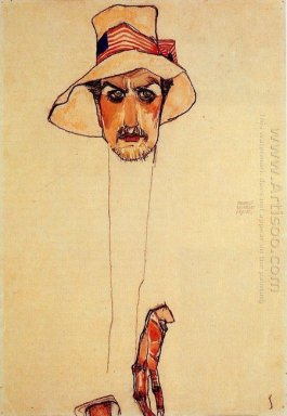 portrait of a man with a floppy hat portrait of erwin dominilk o