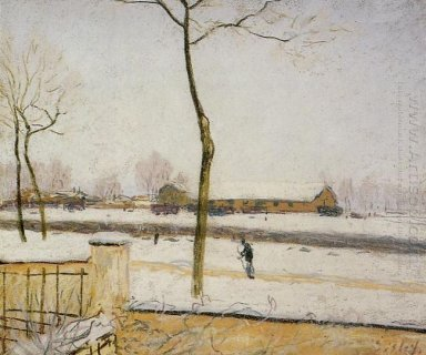 snow scene moret station 1888