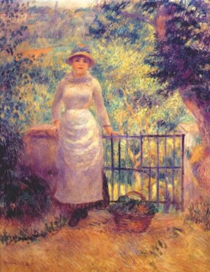 Aline At The Gate Girl In The Garden 1884