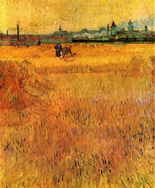 Arles View From The Wheat Fields 1888
