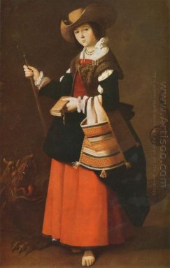 Saint Margaret Dressed As A Shepherdess
