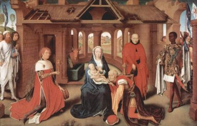 Adoration Of The Magi Central Panel Of The Triptych Of The Adora